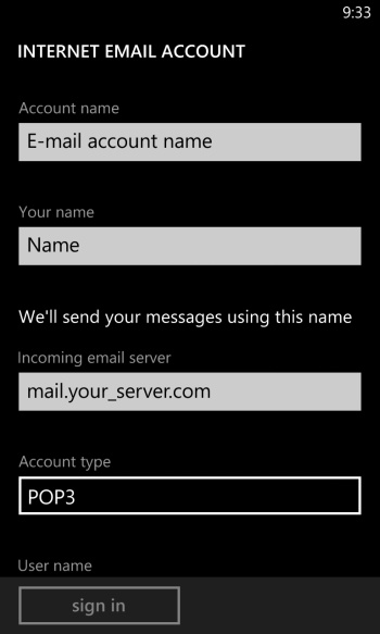 Configure your email account.