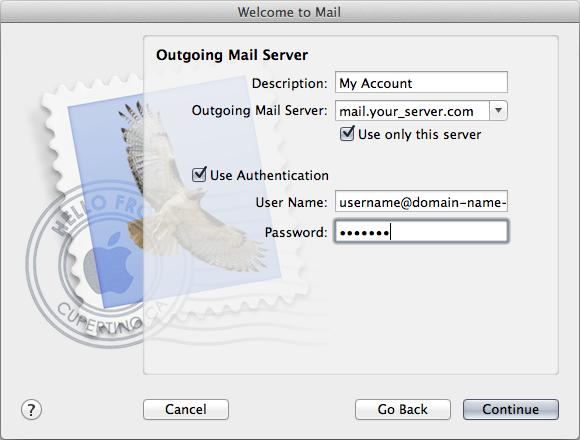 Outgoing Mail Server