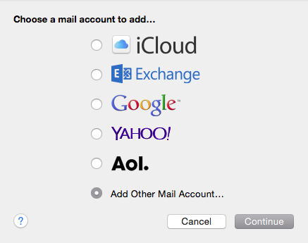 Add Other Mail Account