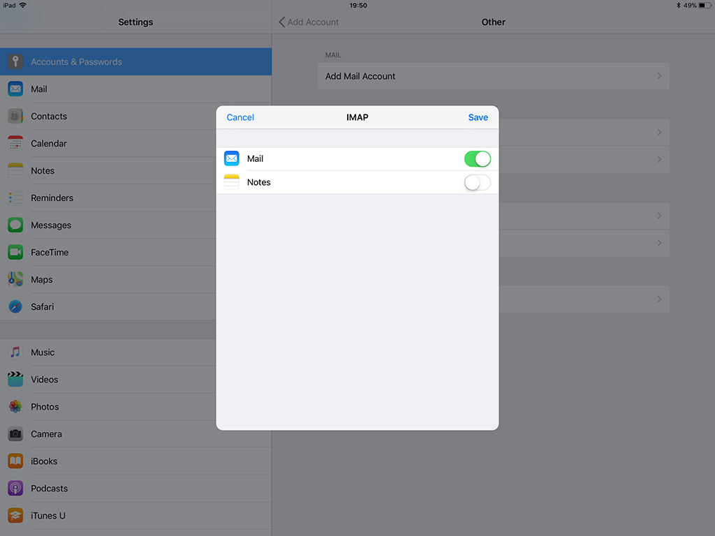 how to add email to ipad ios 11