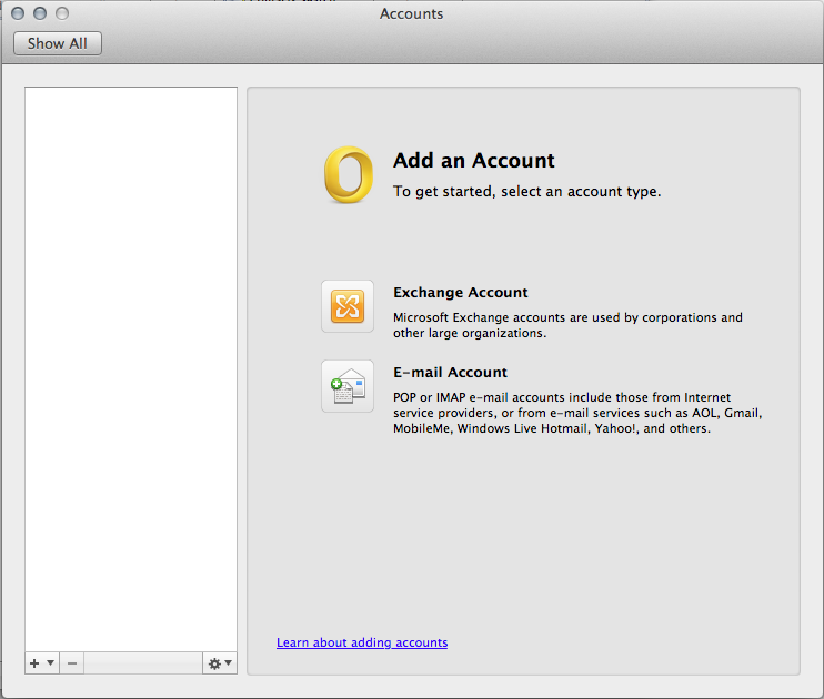 Add an Account